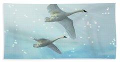Heavenly Swan Flight Bath Towel