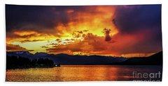 Hebgen Lake Sunset Bath Towel