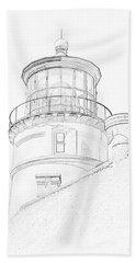 Hecitia Head Lighthouse Sketch Hand Towel