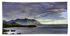 He'eia And Kualoa 2nd Crop Hand Towel by Dan McManus
