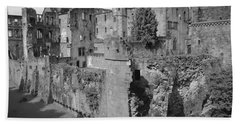 Bath Towel featuring the photograph Heidelberg Castle Behind The Scenes by Corinne Rhode