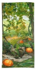 Heidi's Pumpkins Bath Towel