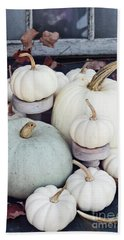 Heirloom Pumpkins And Antlers Bath Towel
