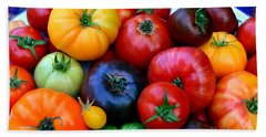 Heirloom Tomatoes Hand Towel by Vivian Krug