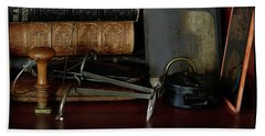 Heirlooms Reflecting Back 2 Hand Towel by Yvonne Wright