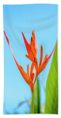 Heliconia Flower Hand Towel