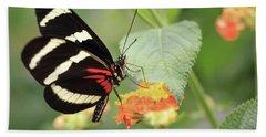 Heliconius Melpomene Butterfly Hand Towel