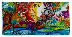 Hand Towel featuring the painting Helios And Ophelia  by Genevieve Esson