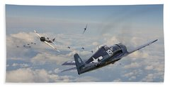 Hellcat F6f - Duel In The Sun Hand Towel