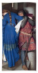 Hellelil And Hildebrand Or The Meeting On The Turret Stairs Hand Towel