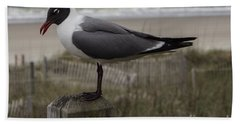 Hello Friend Seagull Bath Towel