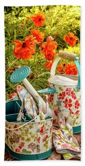 Hand Towel featuring the photograph Hello Summer by Teri Virbickis