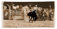 Helluva Rodeo-the Ride 2 Hand Towel