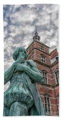Bath Towel featuring the photograph Helsingor Train Station Statue by Antony McAulay