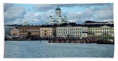 Helsinki Skyline Bath Towel