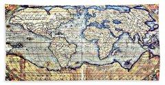 Hemisphere World  Bath Towel