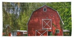 0018 - Henderson Road Red I Hand Towel