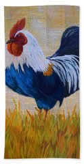 Henhouse Boss Bath Towel by Nancy Jolley