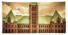 Hennepin County Courthouse In Minneapolis , Minnesota  Bath Towel