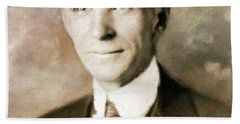 Henry Ford By Mary Bassett Hand Towel