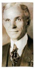 Henry Ford By Mary Bassett Bath Towel