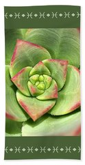 Hens And Chicks Succulent And Design Hand Towel by Joy Watson