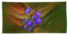 Hepatica Nobilis Painterly #h4 Hand Towel