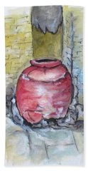 Herculaneum Amphora Pot Bath Towel by Clyde J Kell