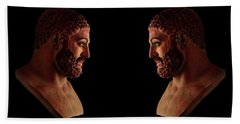 Bath Towel featuring the mixed media Hercules - Brunettes by Shawn Dall