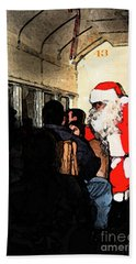 Hand Towel featuring the photograph Here Come Santa by Kim Henderson