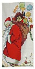 Here Comes Santa Claus Hand Towel