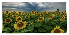 Hand Towel featuring the photograph Here Comes The Sun by Aaron J Groen