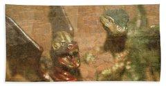 ....here There Be Dragons Bath Towel by Martina Fagan