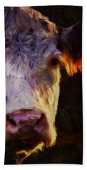 Hereford Cow Hand Towel by Michele Carter