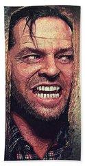 Here's Johnny - The Shining  Hand Towel by Taylan Apukovska
