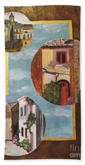 Hand Towel featuring the painting Heritage by Judy Via-Wolff