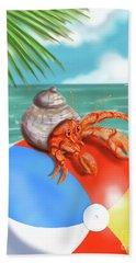 Hermit Crab On A Beachball Hand Towel