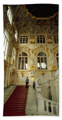 Hand Towel featuring the photograph Hermitage Staircase by Travel Pics