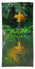 Heron Art Hand Towel by Dale Stillman