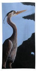 Heron In The Trees Hand Towel