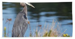 Heron On Pause Bath Towel