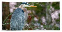 Heron Perched In Tree #2 Hand Towel