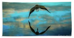 Heron Reflection Bath Towel