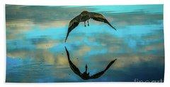 Heron Reflection Bath Towel