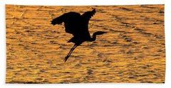 Heron Sunset Bath Towel