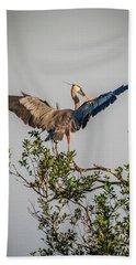 Heron Treetop Landing Hand Towel