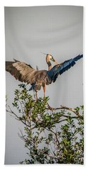 Heron Treetop Landing Bath Towel