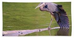 Heron Yoga Hand Towel