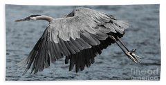 Herons Flight Bath Towel