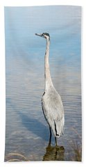 Heron's Watch Bath Towel by Gwen Vann-Horn